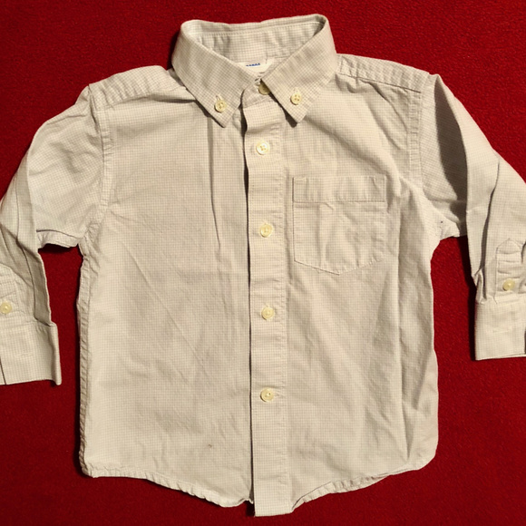 Gymboree Other - Gymboree white and blue check button down shirt